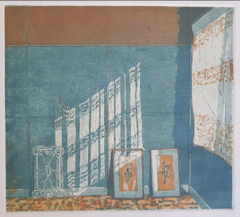 The Lace Curtain (etching)