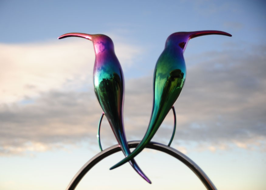 Ted Secombe -  Rainbow Birds (detail)