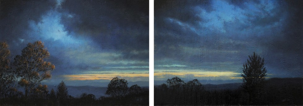 The Distant Sound of Thunder (Diptych)