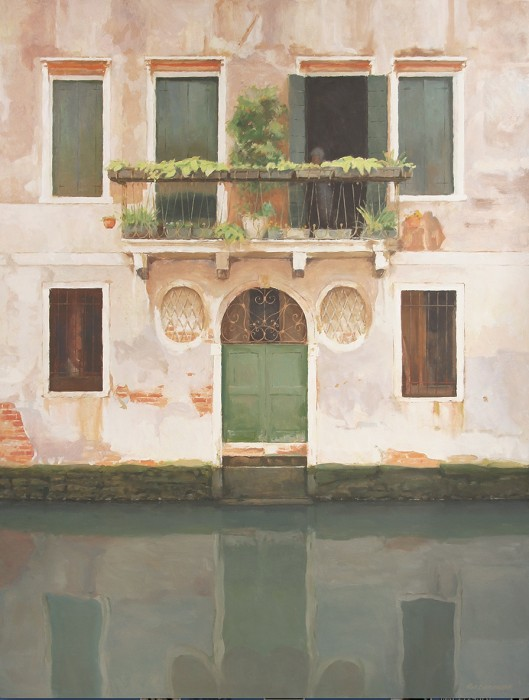 Green Door Reflections - Venice