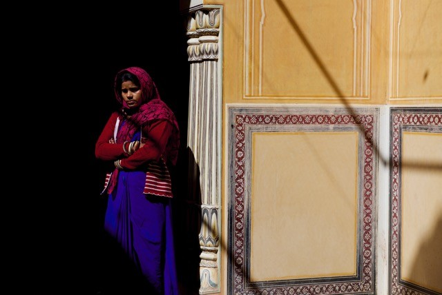 Woman in Red Scarf, Narangarh Fort, Jaipur, India 205